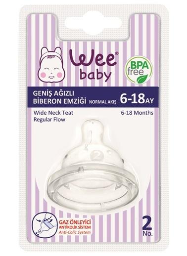 Wee Baby 853 Geniş Ağızlı Biberon Emziği Normal Akış 6-18 Ay-Wee